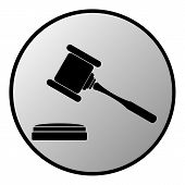 Judge Gavel Button