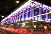 Selfridges at night