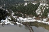 image of snow-slide  - Mudslides scar the hillsides of Washington state following heavy rain on top of snow.