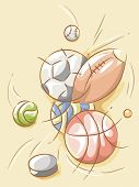 Illustration Featuring Balls Designed with Random Strokes