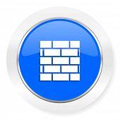 firewall blue glossy web icon