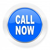call now blue glossy web icon