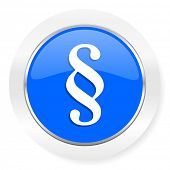 paragraph blue glossy web icon