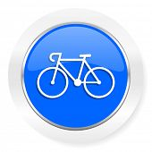 bicycle blue glossy web icon