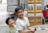 Unidentified Japanese Children Smile