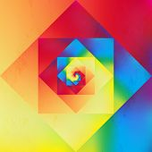 foto of psychodelic  - Colorful retro psychedelic optic art style seamless pattern background - JPG
