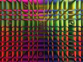 stock photo of diffusion  - A 3d fractal of a colorful grid like a diffuser - JPG