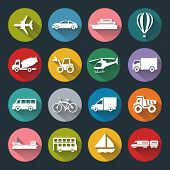 Flat Icons Of Transport