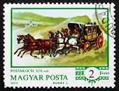 Postage Stamp Hungary 1977 Mail Coach