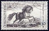 Postage Stamp Czechoslovakia 1969 Prancing Stallion By Hendrik G