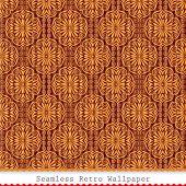 Vintage seamless wallpaper pattern background. Vector.