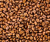 Brown Coffee, Background Texture. Roasted Coffee Beans. Brown Coffee Beans, Close-up Of Coffee Beans