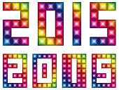 Vector Happy new 2015 year with LED display