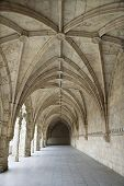 Arched Exterior Hallway Of Monastery Of Jeronimos
