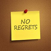 No Regrets Words On  note