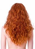 foto of red hair  - Gorgeous curly redhead girls back - JPG