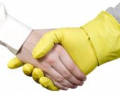 Cleaning Worker And Businessman