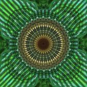 Green Mandala Fractal