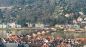 The Cityscape Of Heidelberg City With The Old Bridge Cross The River Neckar In Heidelberg, Germany