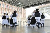 ZAGREB, CROATIA - JULY 20: Members of folk groups St. Jerome from Mala Strigova, Croatia during the 48th International Folklore Festival in center of Zagreb, Croatia on July 20, 2014