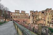 The Ruin Tower Of Heidelberg Castle In Heidelberg