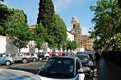 Rome City Street View Near By Spanish Steps On May 29, 2014