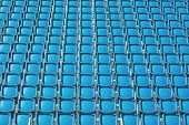 Blue seats of a stadium