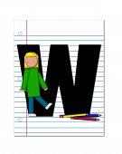 Alphabet Start Of School Two W