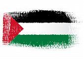 brushstroke flag Palestine