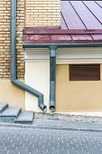 Old House With Gutter And Downspout poster