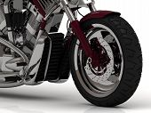 Big Wheel Of Motorcycle