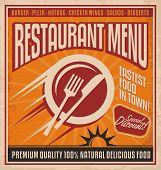 Fast food retro poster design concept