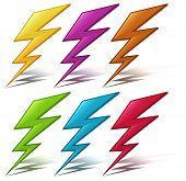 Illustration of many color lightening