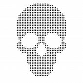 Vector Skull With Stars