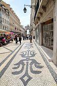 Pedestrian Street Rua Augusta In Lisbon