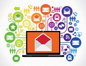 stock photo of internet icon  - Internet mail concept - JPG