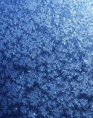 Blue snowflakes gradient background