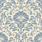 picture of damask  - Vector damask yellow seamless pattern element - JPG