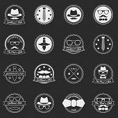 Men's vector emblems and badges