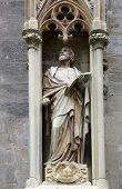 VIENNA, AUSTRIA - OCTOBER 10: Saint John the Evangelist at St Stephans Cathedral in Vienna, Austria on October 10, 2014