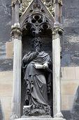 VIENNA, AUSTRIA - OCTOBER 10: Saint Matthew the Evangelist at St Stephans Cathedral in Vienna, Austria on October 10, 2014