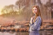 pic of mystical  - Mystical portrait of redheaded girl in the swamp - JPG