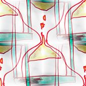 Mural seamless  pattern hourglass background texture