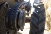 tractor close up