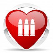 ammunition valentine icon weapoon sign