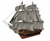 HMS Victory ship - 3D render