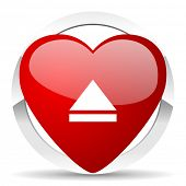 eject valentine icon open sign