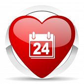 calendar valentine icon organizer sign agenda symbol