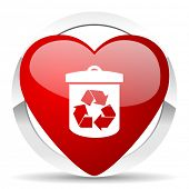 recycle valentine icon recycling sign