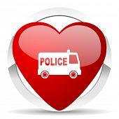 police valentine icon